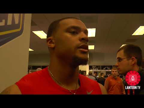 Cotton Bowl: Ohio State S Damon Webb speaks after his team's 24-7 win over USC.