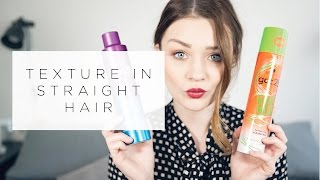 HOW TO: TEXTURE IN STRAIGHT HAIR | tinytwisst