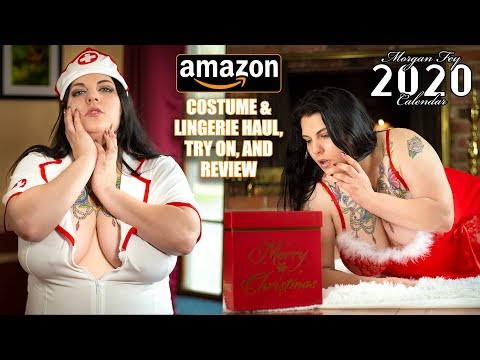 Amazon Plus Sized Lingerie Costume Haul Try on and Review