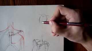 Как нарисовать плечи(Смотрите анатомию Рыжкина и заходите ко мне в группу: http://vk.com/club61619523., 2014-09-16T16:31:02.000Z)