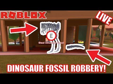 [BACONCAM] DINOSAUR FOSSIL ROBBERY in JAILBREAK!!! | 🔴 Roblox Jailbreak UPDATE Live Stream