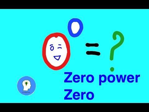 What is 0 to the power of 0?   zero power zero thumbnail