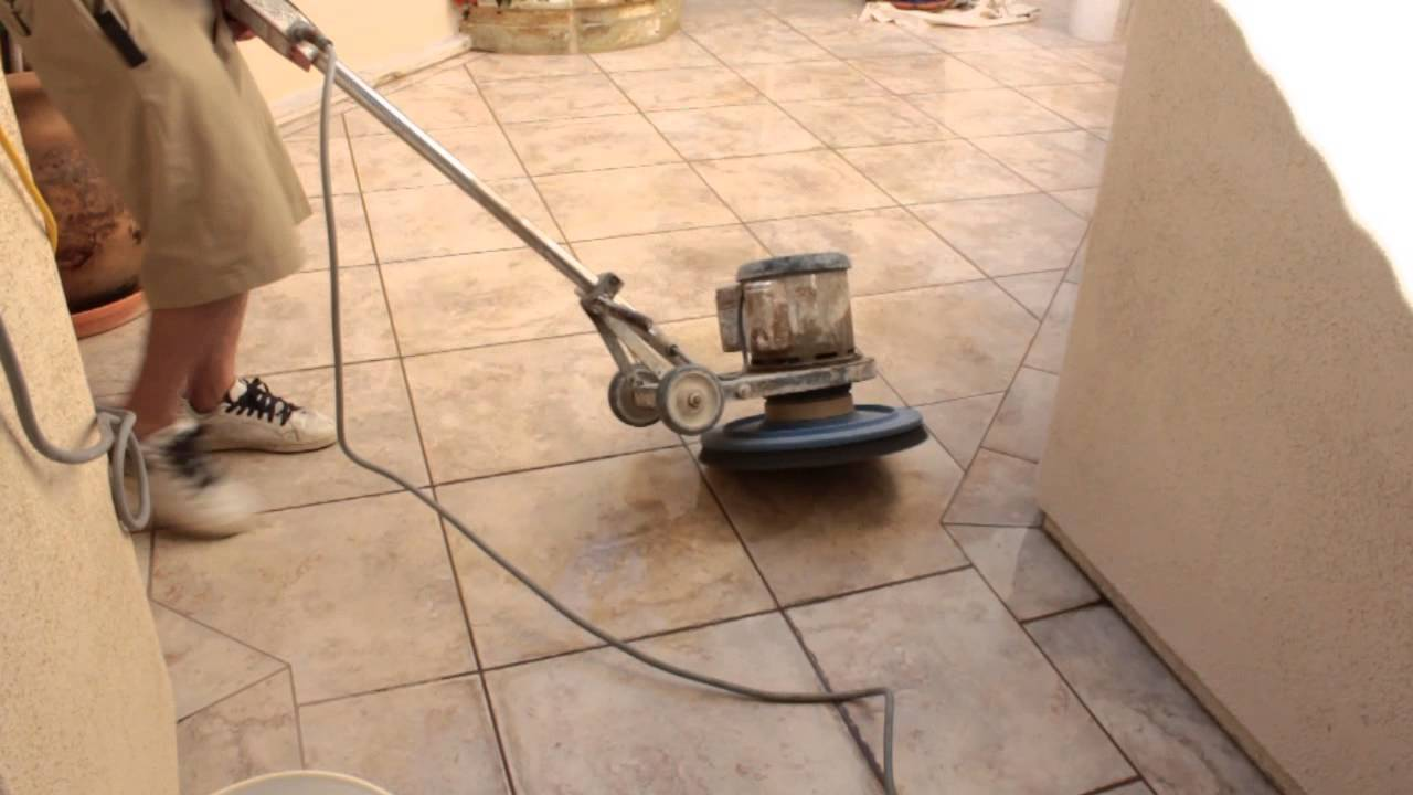 How To Clean Porcelain Tile With Heavy Mineral Deposits - YouTube