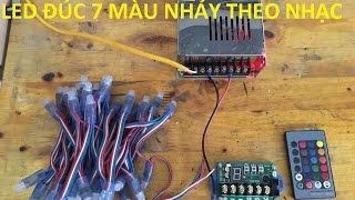 Hướng dẫn đấu nối LED ĐÚC 7 MÀU nháy theo nhạc - LEDCF Việt Nam