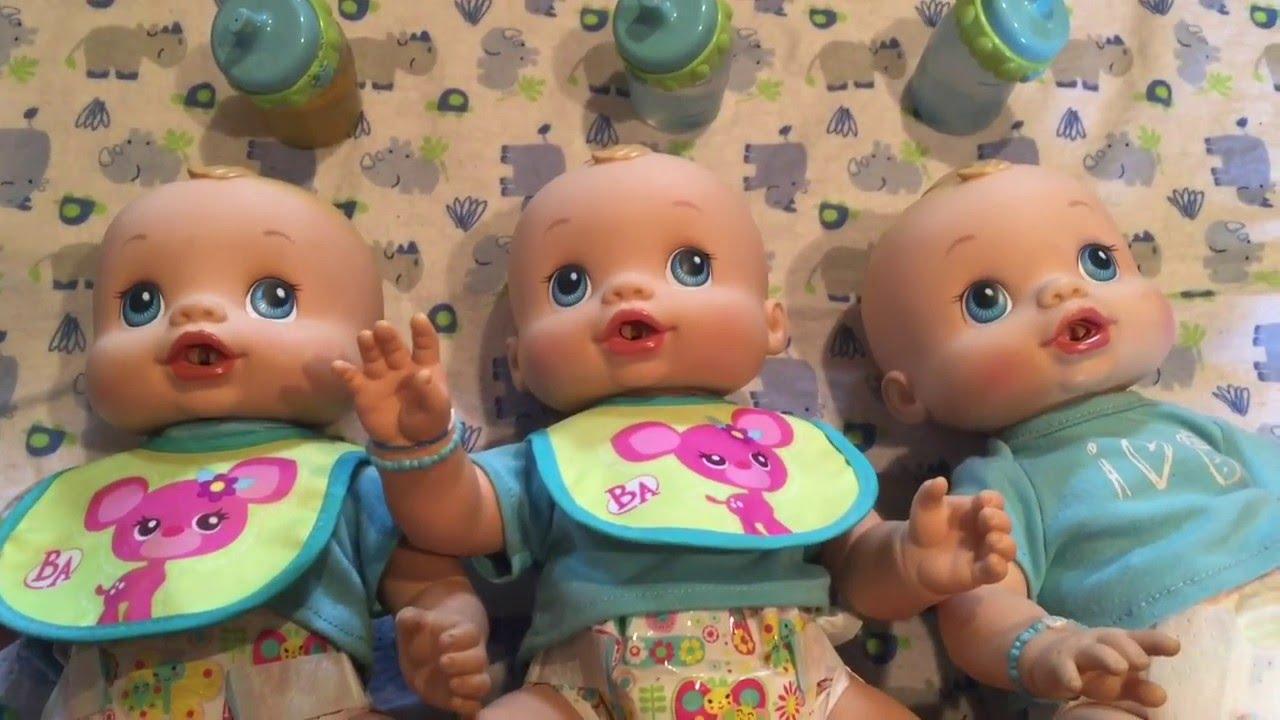 Feeding 3 Baby Alive Wets N Wiggles Boys Boy Dolls