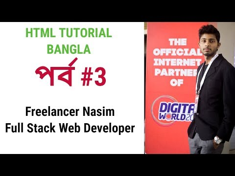 Html Class 3 -  Basic Coding Structure by Freelancer Nasim