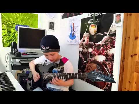 Dustin Tomsen 10 yr old covers Joe Satriani