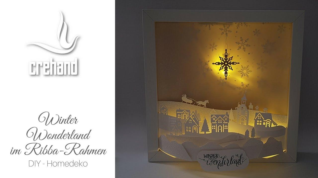 Winter Wonderland im Ribba-Rahmen - Kreativ mit crehand & Stampin ...