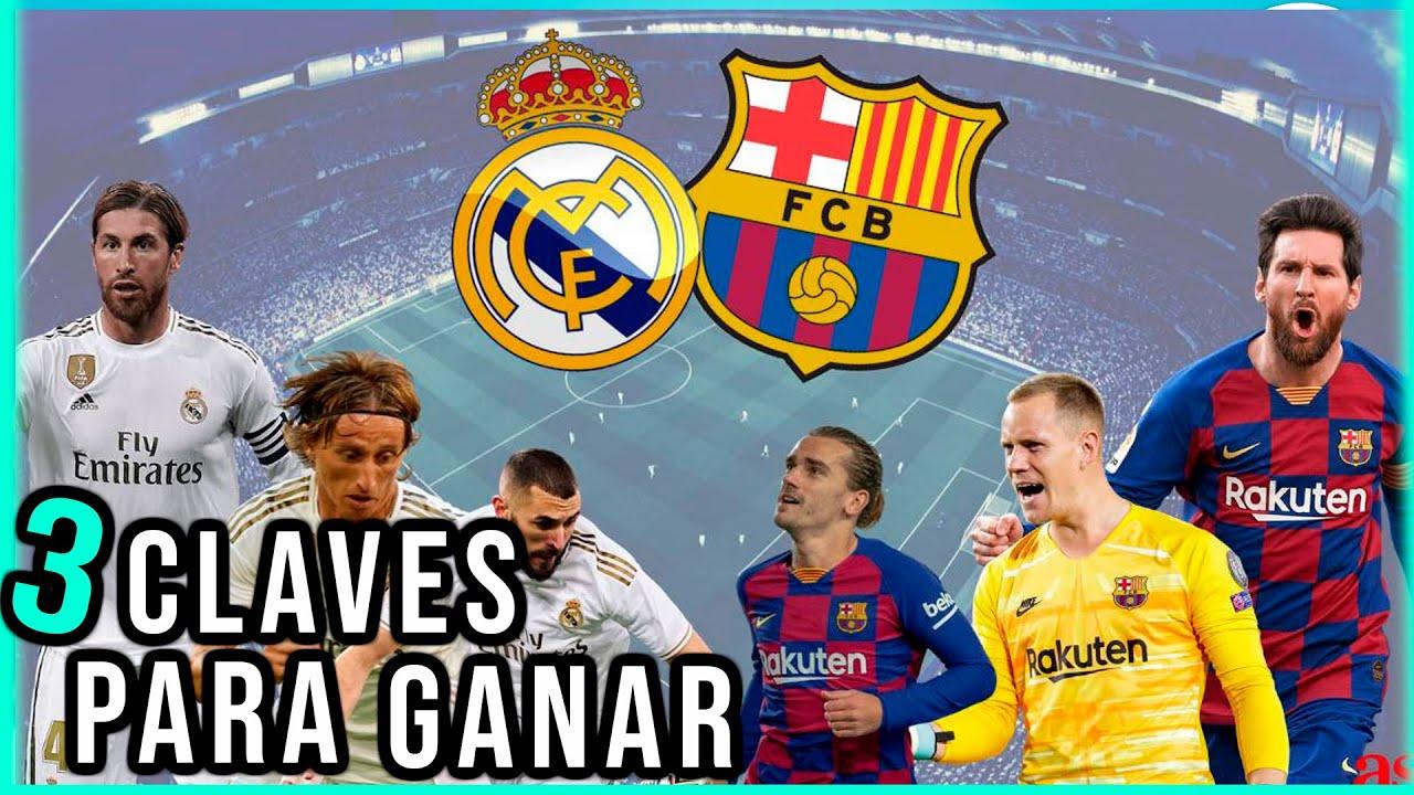 3 puntos clave para que gane el Real madrid vs Barcelona