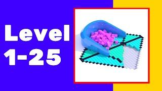 Fill In 3d Game Walkthrough Part 1 Level 1-25