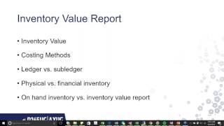 Het begrijpen van de Inventaris-Waarde Rapport in AX 2012