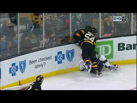 Clifford Gets Crunched Awkwardly Against Boards