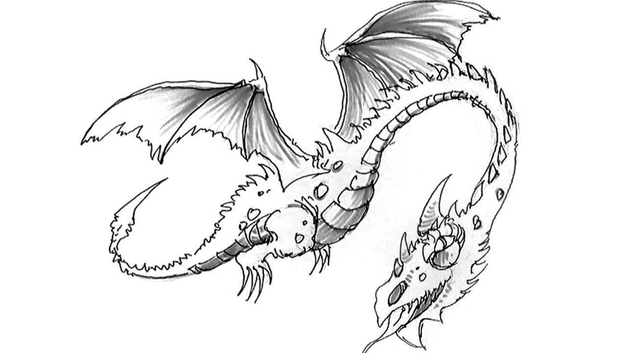 Comment dessiner un dragon youtube - Dessiner dragon ...