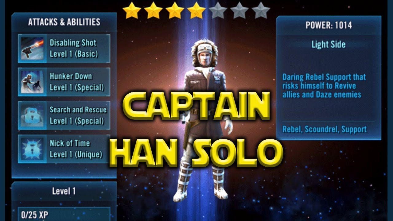 Repeat Star Wars: Galaxy Of Heroes - Captain Han Solo Full Kit by