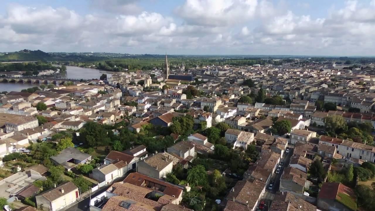Vue Aérienne De Libourne (Gironde/Aquitaine/France)