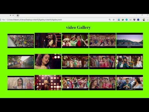 Make A Video Gallery Using HTML And CSS Video Api Step By Step Easy Tutorial