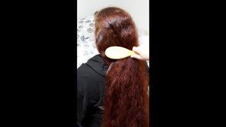 ASMR Hair Brushing & Playing With Gorgeous Red Hair