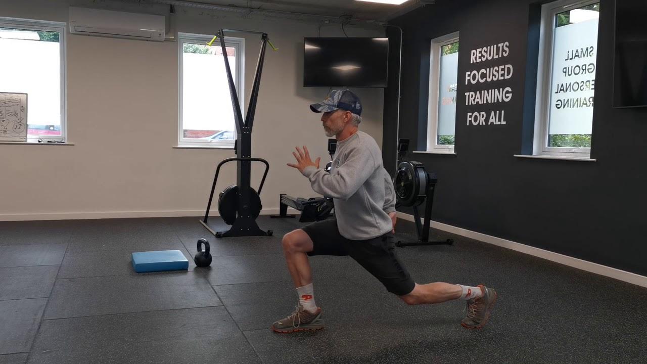 Reverse Lunge to Knee Drive Single Leg Control