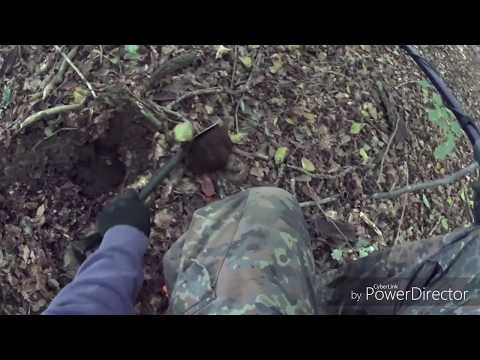 Sondeln/Sondengänger im Wald mit Kyffhäuser WW2 Anstecker (Videobeschreibung) Metal Detecting WW2