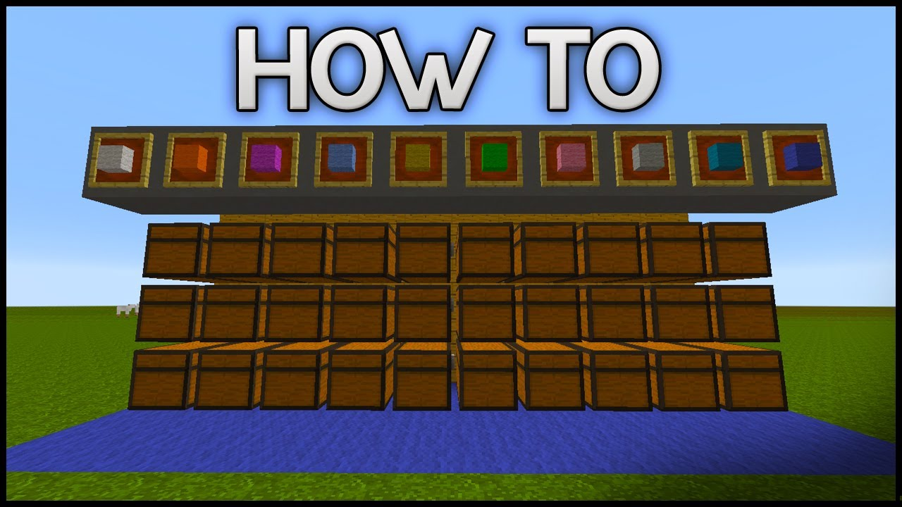 minecraft how to place chests next to each other youtube