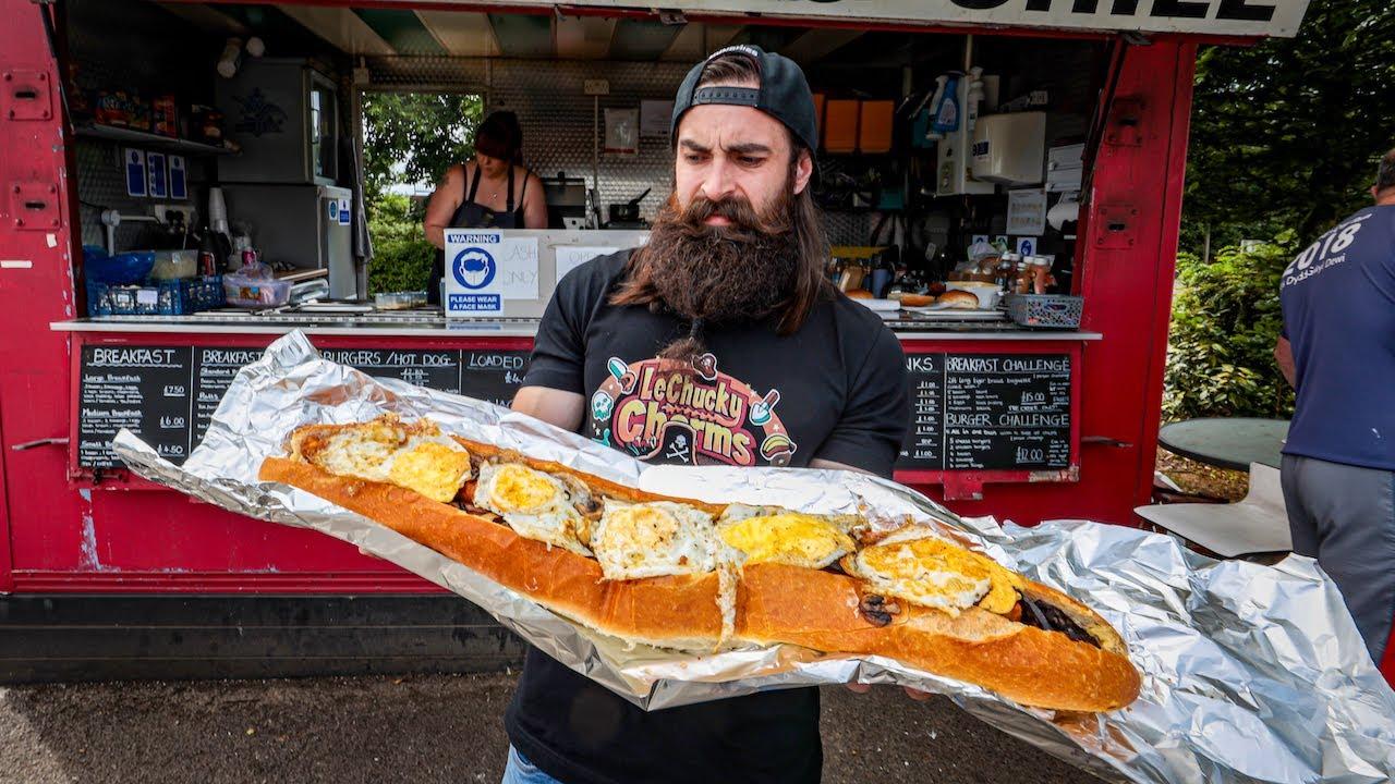 MEG'S MONSTER SANDWICH CHALLENGE   UNBEATEN IN OVER 2 YEARS   BeardMeatsFood