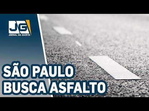 São Paulo busca asfalto para tapar buracos