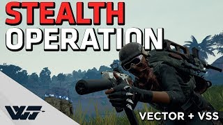 STEALTH OPERATION - Suppressed Vector + VSS - PUBG Gameplay