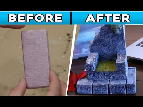 DIY:making a Throne Chair for your action figure dioramas! 1:12 scale