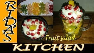 Fruit salad | fruit salad with ice cream | children