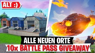ALL NEW PLACES | 10x Battle Pass Sweepstakes! | Fortnite New Map