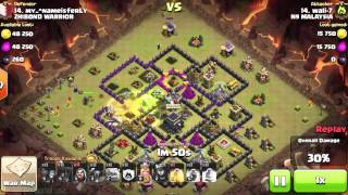 3 STAR!!! TH 9 ATTACK!!! | Clash of Clans| N9 Malaysia by wali-7 -Episode #22