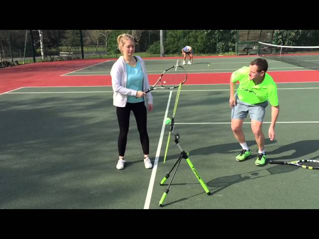 Holly learns topspin in 90 seconds