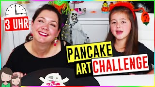Macht NIEMALS Pancake Art um 3 UHR NACHTS! SCARY! 3 Uhr Nachts Challenge Halloween Edition