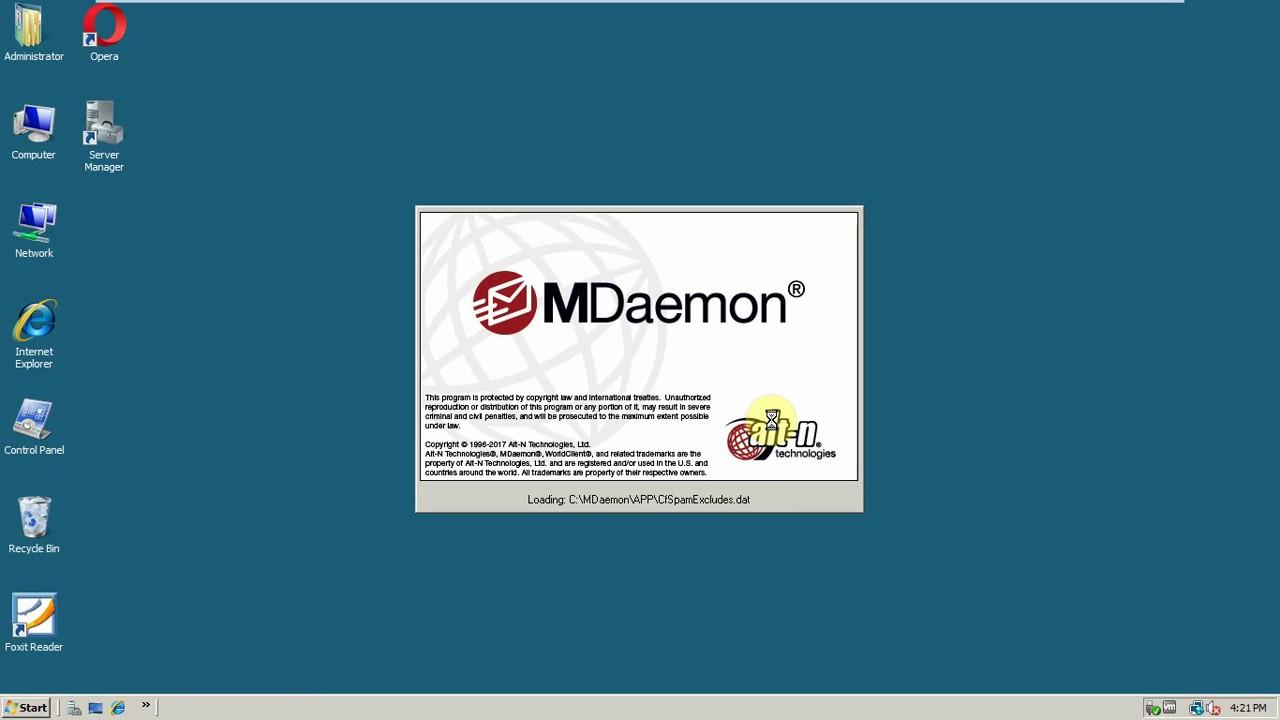 Hướng dẫn cài đặt và cấu hình cơ bản Mdaemon Mail Server trên Windows Server 2008