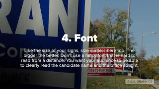 5 Tips to Better Political Campaign Yard Signs - A.G.E.  Graphics