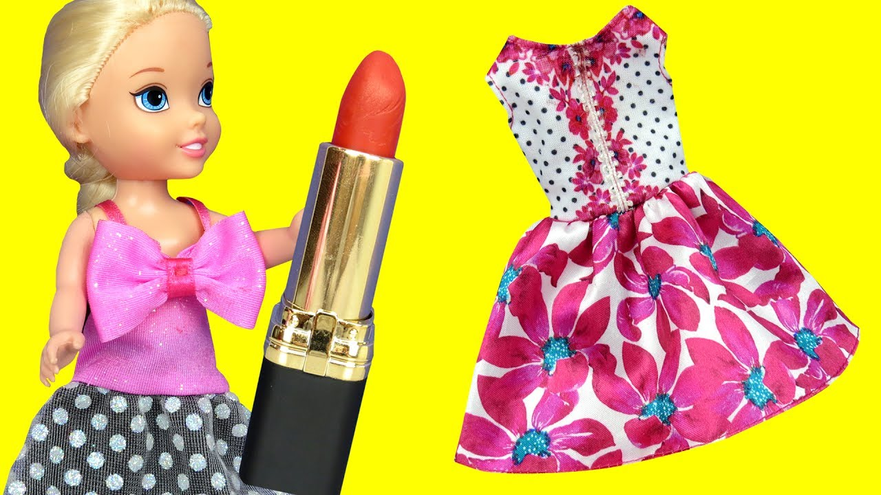 103dd93a9a9 Dress up ! Elsa   Anna toddlers - Dresses - Lipstick - Painting nails -  Clothes - Puppy