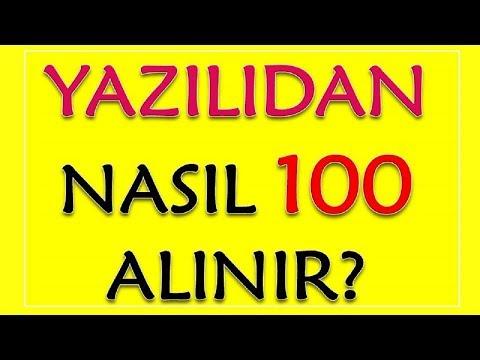 YAZILIDAN NASIL 100 ALINIR? Yazılıya Nasıl Çalışılır?