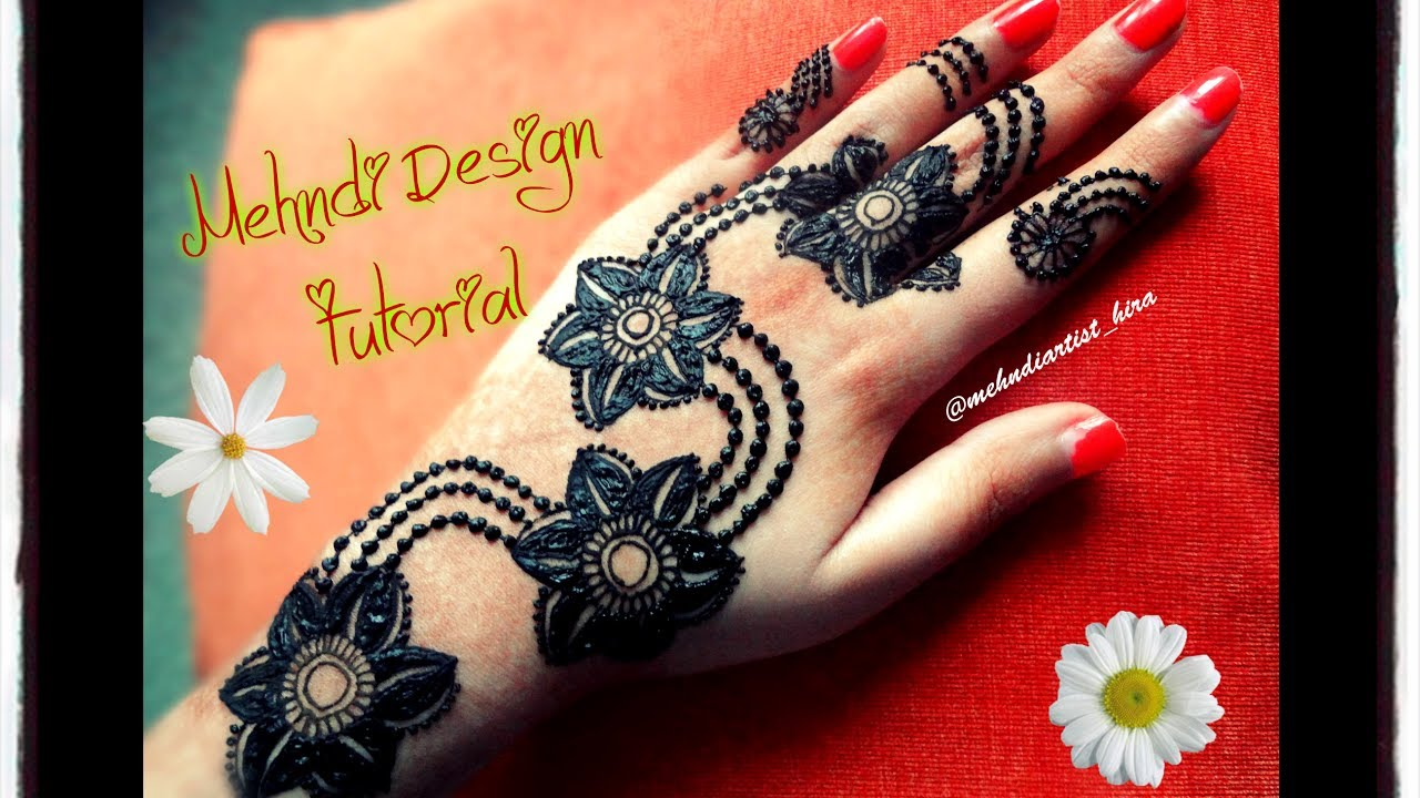 Simple Diy Mehndi Designs : Diy henna designs how to apply easy arabic new gulf
