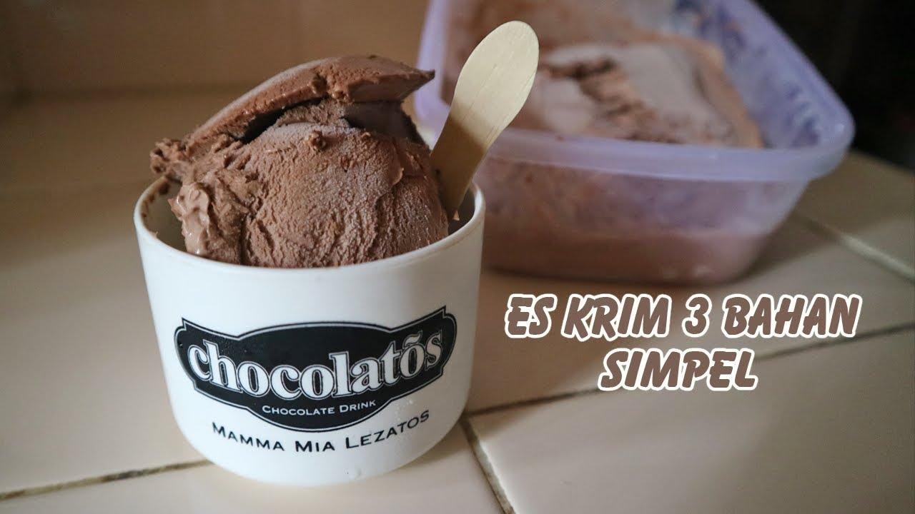 Cara Membuat Es Krim Paling Mudah 3 Bahan Saja