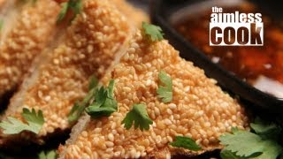 Sesame Shrimp Toast Recipe - Dim Sum Favourites