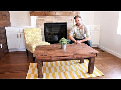 The $30 Farmhouse Coffee Table – Easy DIY Project