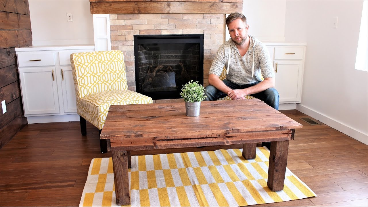 The 30 Farmhouse Coffee Table Easy Diy Project Youtube