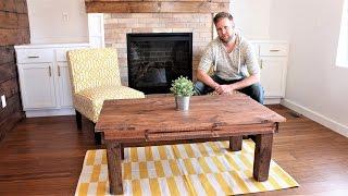 The $30 Farmhouse Coffee Table - Easy DIY Project