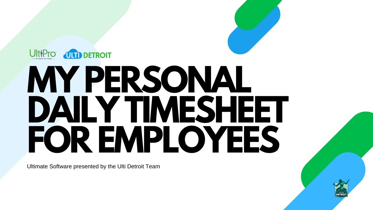 my personal daily timesheet for employees