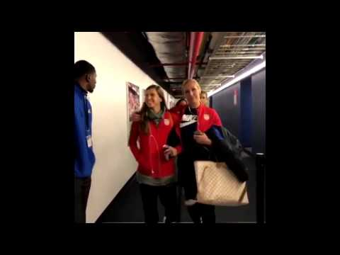 """USWNT - Allie Long & Tobin Heath: """"Are You Snapping?"""" (Harry Arrive for SBC v. England) - 3-4-17"""