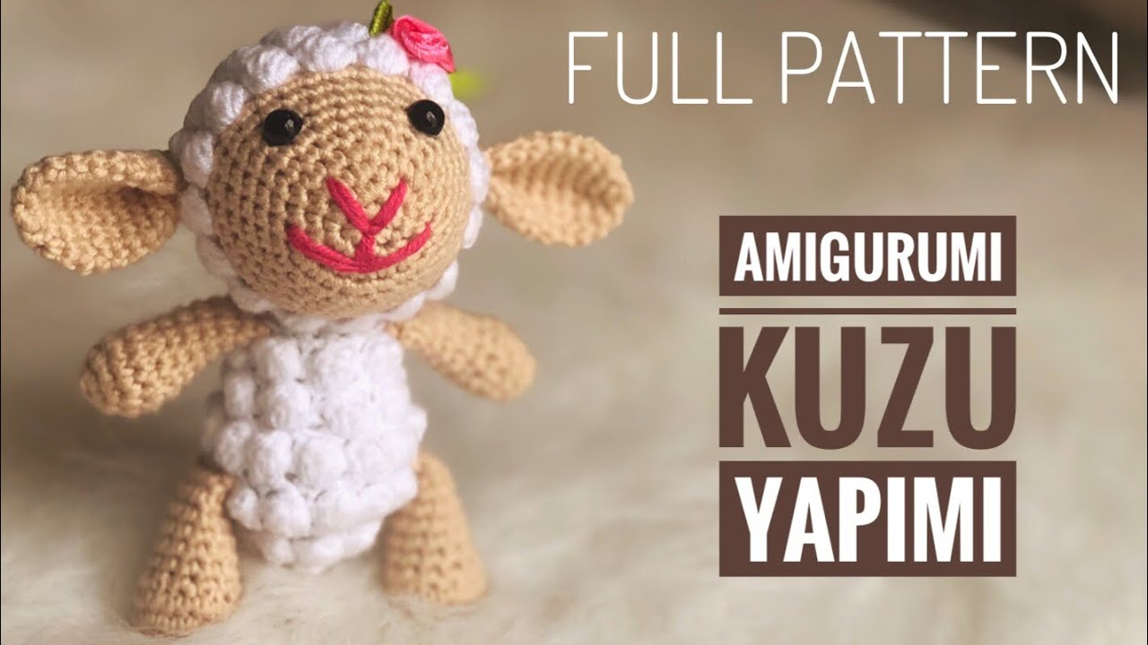 Kadife İpten Amigurumi Kuzu Yapımı Tarifi | Gullig virkning ... | 720x1280