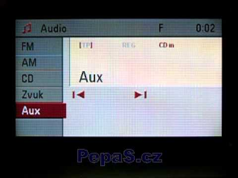 opel cd70 / dvd90 navi without the aux input - youtube