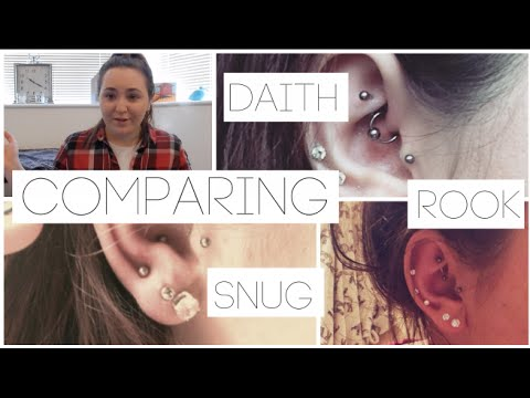 Comparing The Daith Rook Snug Piercing Pain Healing Youtube