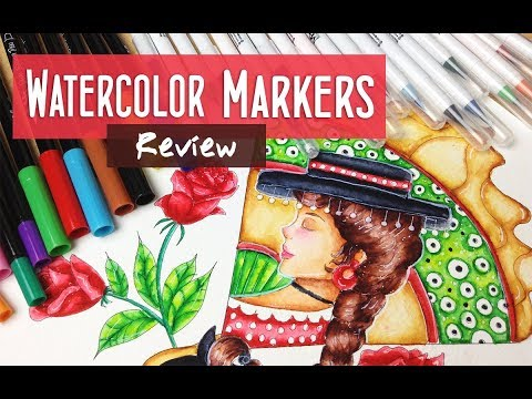 MozArt Watercolor Single and Dual Brush Pens Review and Demonstration