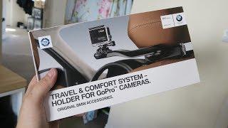 BMW GoPro Headrest Holder Mount Unboxing & Review! (Travel & Comfort System)